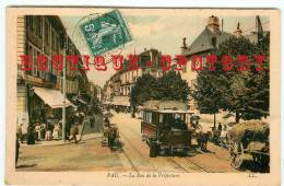 TRAM - TRAMWAY à Pau Rue De La Préfecture - Publicité Dubonnet Et Bénédictine - Dos Scanné - Tram