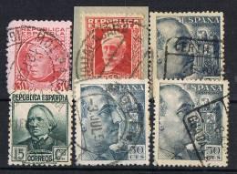 Lote 6 Sellos.fechadores Povincia GUADALAJARA, Estado Español Y Republica º - 1931-50 Usati