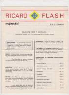 REVUE/ RICARD FLASH/CONFIDENTIEL/N°20 / FEVRIER 1965 - Altri