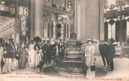 """VITTEL - ETABLISSEMENT THERMAL - La Buvette De La """"Source Salée"""" - CPA, Petit Format Circulée En 1921, 2 Scans - Vittel Contrexeville"""