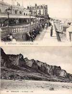 Lot De 2 CPA Houlgate : Le Casino Et La Digue + Les Falaises - Houlgate