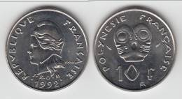 **** POLYNESIE FRANCAISE - FRENCH POLYNESIA - 10 FRANCS 1992 NEUVE **** EN ACHAT IMMEDIAT !!! - Polynésie Française