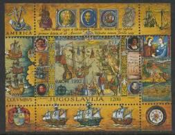 Jugoslavija Yugoslavia 1992 B 41 - Mi 2536 ** 500 Ann. Discovery Of America By Columbus / Entdeckung Von Amerika - Christoffel Columbus