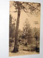 Carte Postale Ancienne : CAZAUX-HAMEAU : Le Pont De La Route , Animé , Avec Avion - France