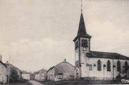 Rare CPA Colorisée 54 : ANGOMONT - Place De L´église Et Mairie école - Otros Municipios