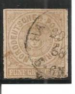 Confederación De Alemania Del Norte Yvert 6 (usado) (o). - Conf. De Alemania Del Norte