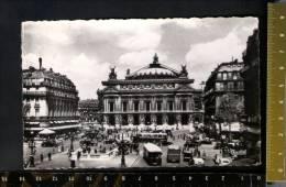 D2751 Paris, Place De L' Opera - Auto, Car, Voitures, Bus - Edi. Chantal - V. 1953 - Transport Urbain En Surface