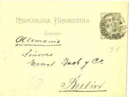 LPU5 - ARGENTINE BANDE JOURNAL VOYAGEE SEPTEMBRE 1893 - Entiers Postaux