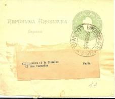 LPU5 - ARGENTINE BANDE JOURNAL VOYAGEE MARS  1899 - Entiers Postaux