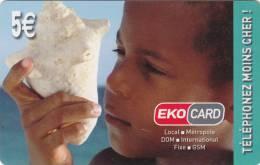 MAYOTTE - EKO Card By XTS Telecom Prepaid Card 5 Euro, Tirage 10000, Used - Télécartes