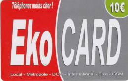 MAYOTTE - EKO Card, XTS Telecom Prepaid Card 10 Euro, Used - Telefoonkaarten