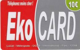 MAYOTTE - EKO Card By XTS Telecom Prepaid Card 10 Euro, Used - Télécartes