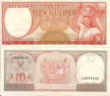 Suriname P121, 10 Gulden, Pretty Woman W/basket On Head - Surinam