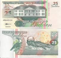 Suriname P137a, 10 Gulden, Banana Plant $3CV! - Surinam