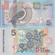 Suriname P146, 5 Gulden, Passionflower - Stunning! - Surinam