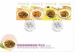 FDC(A) 2013 Delicacies– Home Cooked Dishes Stamps Cuisine Teapot Tea Gourmet Food Crab Rice Chicken Mushroom Boar - Drinks