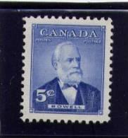 CANADA 1954, #350 MNH,SIR MACKENZIE BOWELL Premier Minister   Mnh - 1937-1952 Règne De George VI
