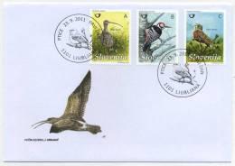 FDC Slovenia 2011 - Birds (Michel 908-910) Mint FDC 21/11 - Slovenië