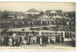 Carte Postale Ancienne Côte D´Ivoire - Grand Bassam. Inauguration Du Monument. Aux Morts De La Côte D'Ivoire - Côte-d'Ivoire