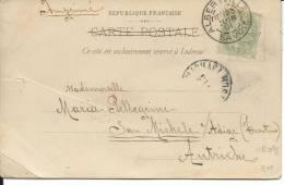 VE091 - CARTOLINA DA ALBERTVILLE A SAN MICHELE ALL´ADIGE (TN) AUSTRIA .- 25.6.1901- ISOLATO - Marcophilie (Lettres)
