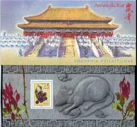 Année Lunaire Chinoise Du Rat. - Blocs Souvenir