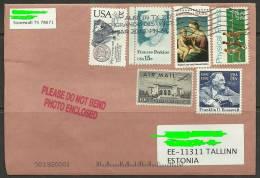 USA Cover With Several Stamps Sent To ESTONIA Estland Estonie 2013 - Postal Stationery