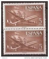 ES1177-LA976TSC.Spain Espagne SUPER-CONSTELLATION Y NAO SANTA MARIA 1955/56.(Ed.1177**)sin Charnela LUJO  BLOQUE DE 2 - Sin Clasificación