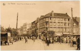 De Panne, La Panne, Grand'place Et Avenue De La Mer, Tram, Tramways, Hotel Mon Bijou (pk8710) - De Panne