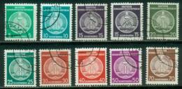 DDR  1954  Dienstmarken Für Verwaltungspost B II  (9 Ggest. (used))  Mi: 18-19, 21-27 (0,90 EUR) - [6] République Démocratique