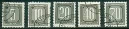 DDR  1956  Dienstmarken Für Verwaltungspost A  (5 Ggest. (used) Kpl. )  Mi:  (1,00 EUR) - Service