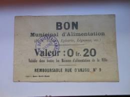 Marne 51 Reims , 1ère Guerre Mondiale 20 Centimes - Buoni & Necessità