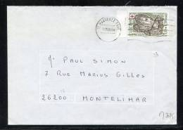 Maury N° 2075  : 1fr10 + 30C CROIX ROUGE  SEUL  S/LSI NU  OB 12/05/80 - Marcophilie (Lettres)