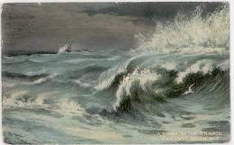 CPA A STORM ON THE ATLANTIC - ROCKAWAY BEACH, NY - EFFET DE VAGUE - Etats-Unis