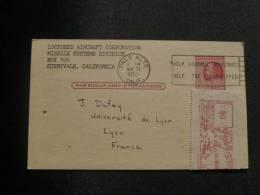 Postal Card  1957  (Palo Alto) - 1941-60