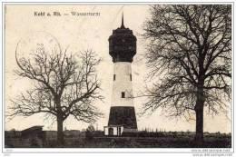 CPA  -   KIEL  /  KEHL  AM  RHEIN  ( Bade - Wurtemberg)    WASSERTURM  -  Chateau - D´eau. 1919 - Kehl