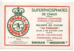 Buvard - Superphosphates De Chaux - La Rochefoucauld - Agriculture