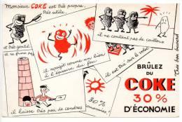 Buvard - Brûlez Du Côke - Buvards, Protège-cahiers Illustrés