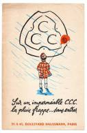 Buvard - Imperméable C.C.C. - Buvards, Protège-cahiers Illustrés