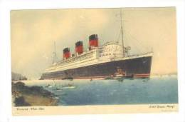 Ocean Liner Cunard R.M.S.  QUEEN MARY  Abstract LOG Card 50s #1 - Advertising
