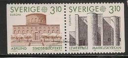 SWEDEN - 1987  Yvert #  1411a  Pair Horizontal  - USED - Sweden