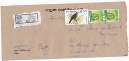 Registered Matara SRI LANKA COVER  To UNDP UNITED NATIONS, Stamps - Sri Lanka (Ceylon) (1948-...)