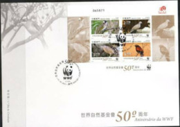 MACAO,2011,WWF, BIRDS,S/SHEET ON LOCAL FDC, - Zonder Classificatie