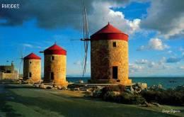Carte Postale De Grèce- Rhodes : Les Moulins - Grèce