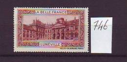 FRANCE. TIMBRE. VIGNETTE. BELLE FRANCE. BELLE FRANCE. CHATEAU.............LUNEVILLE - Tourism (Labels)
