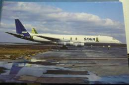 SFAIR   DC 8 55F   F BUOR   ROISSY AIRPORT 1985 - 1946-....: Moderne