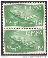 ES1173-A973TA.Spain Espagne SUPER-CONSTELLATION Y NAO SANTA MARIA 1955/56.(Ed.1173**)sin Charnela LUJO  BLOQUE DE 2 - Ungebraucht
