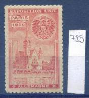 14K795 / Label 1900 PARIS UNIVERSAL EXPOSITION ALLEMAGNE - Deutschland Germany Allemagne France Frankreich Francia - 1900 – Paris (France)