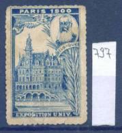 14K797 / Label 1900 PARIS UNIVERSAL EXPOSITION BELGIQUE -  France Frankreich Francia Belgium Belgien Belgio - 1900 – Paris (Frankreich)