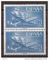 ES1175-A975TTOM.Spain Espagne SUPER-CONSTELLATION Y NAO SANTA MARIA 1955/56.(Ed.1175**)sin Charnela LUJO  BLOQUE DE 2 - Transporte