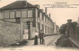 Cpa76 Grugny Etablissement Rue Du Village - France